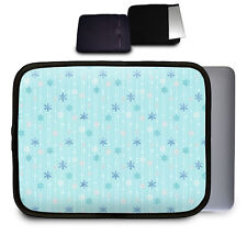 Frozen Ice Queen Snow Flakes Neoprene Case for Any Tablet Netbook Macbook Air -