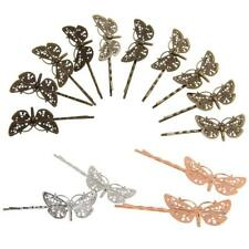 Pack of 10 Vintage Hair Bobby Pins Retro Grips slides Hair Accessories Dragonfly