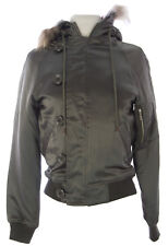 PRIORITIES Women's Army Silk Fur Lined Hood Coat #9005D $162 NEW