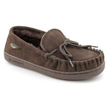Bearpaw Moc Women  Moc Toe Suede Brown Moccasin Slippers Shoes