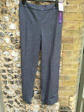 NEW MARKS & SPENCERS WORK TROUSERS blue SIZE 14 WIDE LEG LONG SMART BNWT M & S