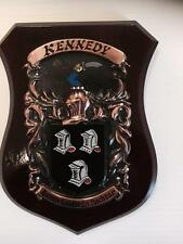 KENNEDY Family Handpainted Coat of Arms Crest PLAQUE - 50.000 names available