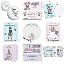 Personalised Wedding Gifts Cards Invitations Thank you Bridesmaid Pageboy Usher