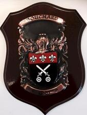 BOUCHARD Family Handpainted Coat of Arms Crest PLAQUE - 50.000 names available