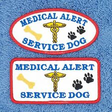 MEDICAL ALERT SERVICE DOG PATCH 2X4 IN Danny & LuAnns Embroidery assistance