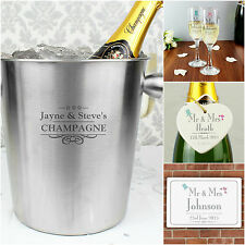 Personalised Decorative Mr & Mrs Bride & Groom Wedding Gifts Presents