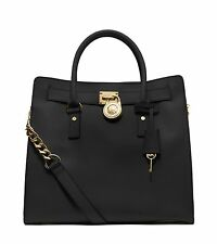 NWT! MICHAEL KORS Hamilton Large Tote NS Satchel Bag Purse Handbag Black $358