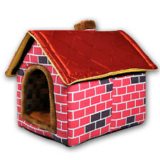 HOT Pet Dog Cat House Warm Comfy Kennel Washable Nesting Bed Puppy Cozy Home