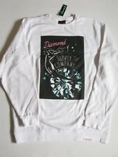 Red Light Neon White Crew Sweater DIAMOND SUPPLY Co Company Crewneck XL XLarge