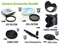 FK75 49mm CPL UV Filter + Lens Hood + Cap + Pen for Camcorder Camera Lenses