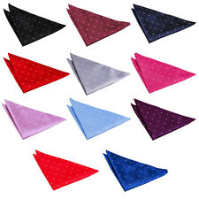 Men's Pin Dot Woven Microfibre Evening Wedding Work Handkerchief Pocket Squares