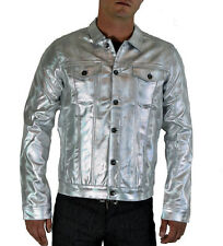 LIP SERVICE 24HRS GOTHIC TECHNO RAVE SPACE ROBOT JUPITER SILVER EMO COAT JACKET