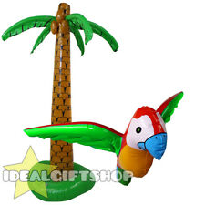 INFLATABLE PALM TREE AND PARROT FANCY DRESS PARTY ACCESSORY HAWAIIAN DECORATION