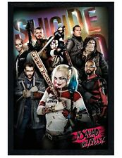 Suicide Squad Black Wooden Framed In Squad We Trust Maxi Poster 61x91.5cm