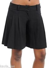 Black Wide Legs Culottes Short Pants/Skort Split Skirt