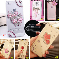 Bling Crystal Diamond Thin Clear Soft TPU Back Shell Case Cover For HTC