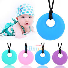 Silicone Baby Infants Teether Teething Safe Pendant Soft Chew Nursing Necklace