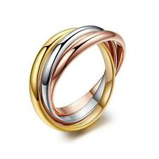 SALE 18K White / Rose / Yellow Gold Filled Ring use 5mm Size Xmas  L O Q S R118