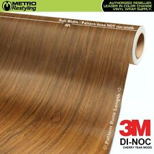 3M DI-NOC CHERRY TEAK WOOD Grain Vinyl Sheet Wrap Film Sticker Roll Adhesive