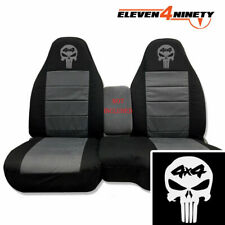 91-15 Ford Ranger Blk Charcoal 60-40 Seat Covers 4x4 Skull Choose From 9 colors