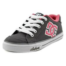 DC Shoes Chelsea TX Youth  Round Toe Canvas Gray Skate Shoe