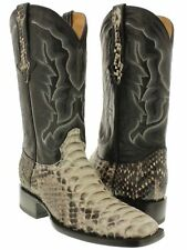 mens real python rattle snake skin leather cowboy boots square toe western
