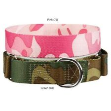 Guardian Gear Camo Nylon MARTINGALE Dog Puppy Collar Pink or Green
