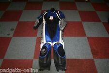 YAMAHA BLUE BLACK SILVER WHITE MENS TWO PIECE MOTORCYCLE SUIT VARIOUS SIZES