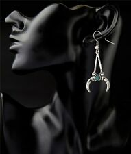 New Fashion Gold/Silver Plated Turquoise Crescent Drop Dangles Hook Earrings