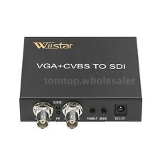 Wiistar VGA+CVBS AV to SDI BNC Converter SD-SDI HD-SDI 3G-SDI for PC Laptop HDTV