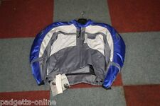 RICHA GREY / WHITE / PURPLE MOTORCYCLE RACING & SPORT JACKET SIZE - SMALL