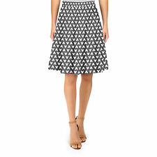 Mickey Polka Dots Black A-Line Skirt Sizes XS-3XL Flared Skirt