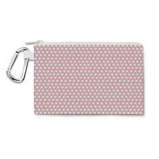Mickey Polka Dots Pink Canvas Zip Pouch - Pencil Case Multi Purpose Makeup Bag