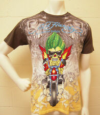 Ed Hardy Lion on the Motorcycle Dip Dye T-Shirt NEW
