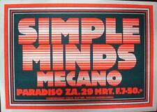 SIMPLE MINDS PARADISO AMSTERDAM 1980 CONCERT POSTER