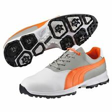 New 2016 Puma Golf Ace Golf Shoes White/Orange Choose-Size-Width-Waterproof