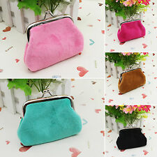 Women Leather Hasp Mini Wallet Coin Pouch Girls Handbags Card Holders Purse Case