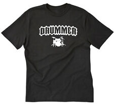 Drummer T-shirt Funny Drum Set Drums Band Funny Music Tee Shirt S-5XL