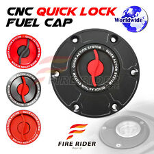 FRW BK/RD CNC Quick Lock Fuel Cap For Triumph Tiger 800 / XC All Years