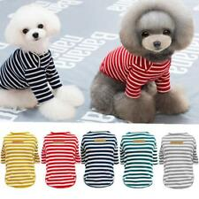 Pet Clothes Dog Puppy Cat T-shirt with Classic Stripe Autumn Summer Cool Apparel