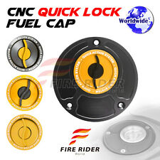 FRW BK/GD CNC Quick Lock Fuel Cap For Ducati 748 All Year 96 97 98 99 00 01 02