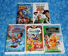 Walt Disney Lot of 5 VHS Tapes with Toy Story 1 and 2 Excellent Tested Condition