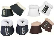 HKM Comfort Padded Anti-Rub Fleece Over Reach Bell Boots - Pony to XFULL | 8586