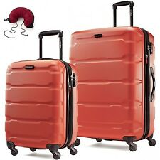 Samsonite Omni PC 2 Piece Set Spinner 20 and 24 With Travel Pillow