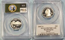 2007-S 25c SILVER PCGS PR70DCAM WASHINGTON QUARTER PROOF DEEP CAMEO PR 70