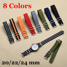 Military Army Nylon Strap Strong Watch Band ( 5 Ring Buckle) 20/22/24mm Diameter