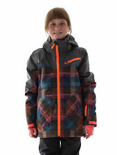 Brunotti Ski Jacket Snowboard Jacket Jagusana Jr grey checked 8K Hood