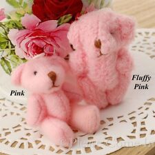 10 to 50 Pink/Fluffy Pink Mini Teddy Bear Party Favours 40mm
