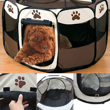 Foldable Pet Dog Cat Exercise Fence Cage Soft Playpen Kennel Tent Crate Play Toy