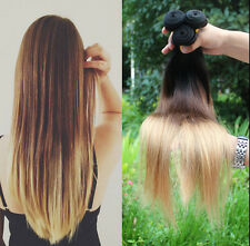 """14""""-28"""" Ombre Remy Straight/Kinky Curly/Body Wave Human Hair Weft Extensions 50g"""